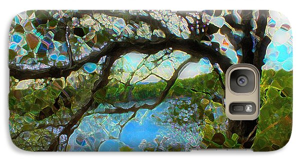 Galaxy Case featuring the mixed media Wishing Tree by Terence Morrissey