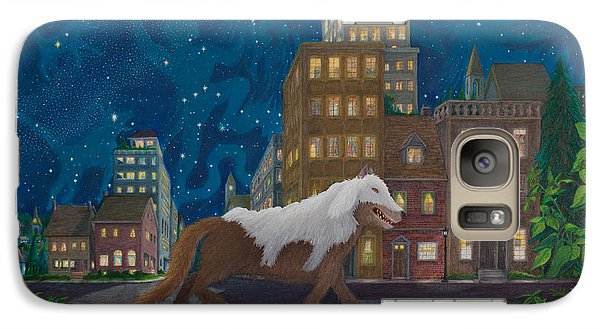 Galaxy Case featuring the painting Wolf In Sheep's Clothing by Matt Konar