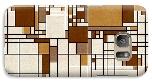 World Map Abstract Mondrian Style Galaxy Case by Michael Tompsett