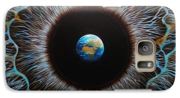 Galaxy Case featuring the painting World Vision by Paula L