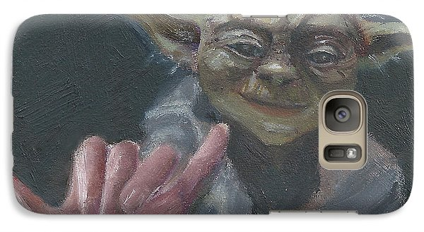 Galaxy Case featuring the painting Y Is For Yoda by Jessmyne Stephenson
