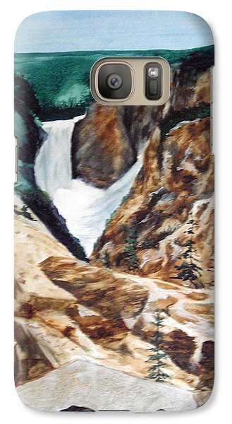 Galaxy Case featuring the painting Yellowstone by Ellen Canfield