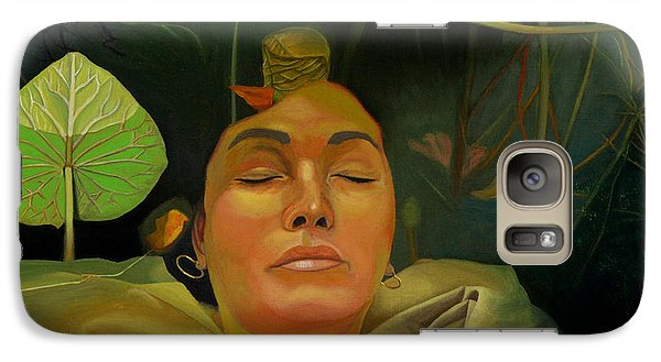 Galaxy Case featuring the painting 10 30 A.m. by Thu Nguyen