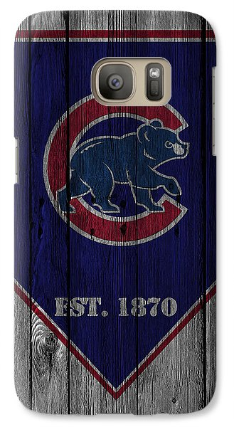 Chicago Cubs Galaxy S7 Case by Joe Hamilton