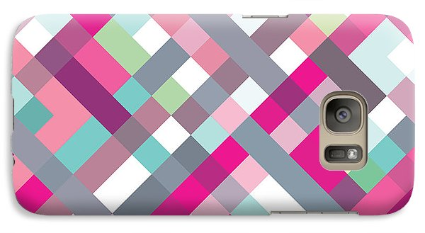 Galaxy Case featuring the digital art Geometric Art by Mike Taylor