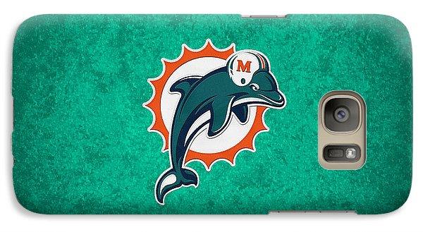 Miami Dolphins Galaxy S7 Case by Joe Hamilton