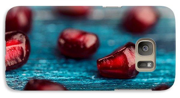Orange Galaxy S7 Case - Pomegranate by Nailia Schwarz