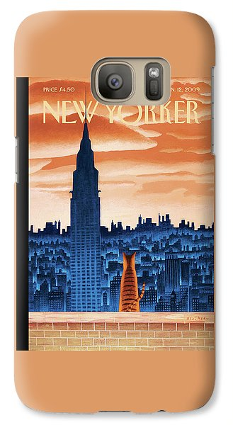 Chrysler Building Galaxy S7 Case - New Yorker January 12th, 2009 by Mark Ulriksen