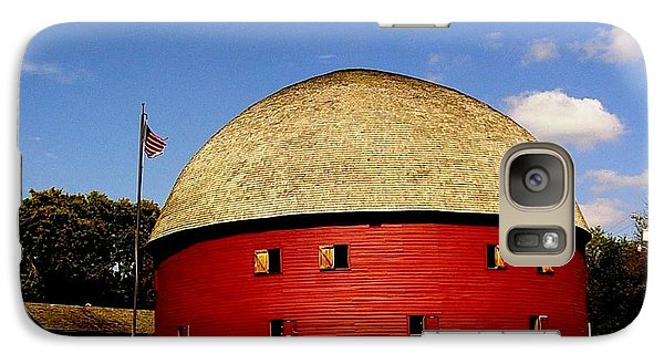 Galaxy Case featuring the photograph 100 Year Old Round Red Barn  by Janette Boyd