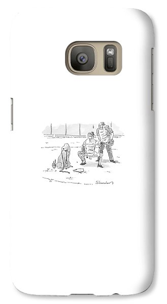 Baseball Galaxy S7 Case - New Yorker October 10th, 2005 by Danny Shanahan