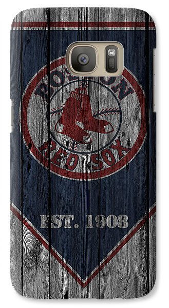 Boston Red Sox Galaxy S7 Case by Joe Hamilton