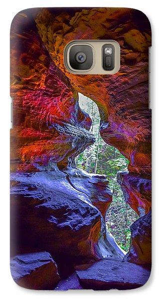 Galaxy Case featuring the photograph Rock House by Brian Stevens