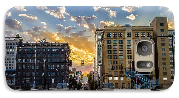 Galaxy Case featuring the photograph 11 Th St. Bridge Sunset Tacoma Wa by Rob Green