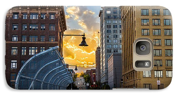 Galaxy Case featuring the photograph 11th St Bridge Sunset 4 by Rob Green