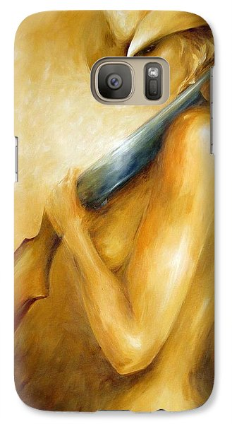 Galaxy Case featuring the painting 12 Gauge by Dina Dargo