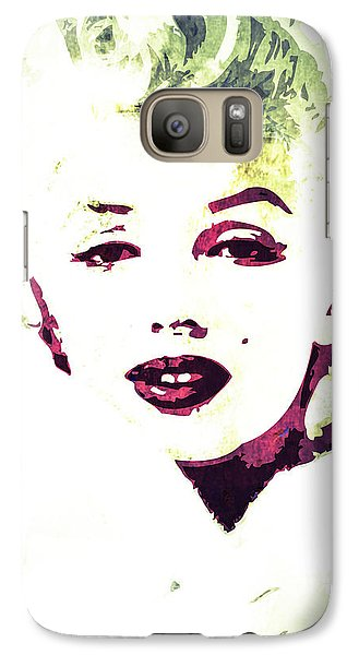 Galaxy Case featuring the digital art Marilyn Monroe by Svelby Art