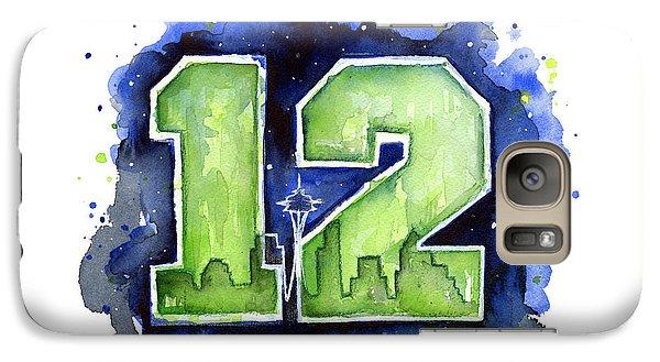12th Man Seahawks Art Seattle Go Hawks Galaxy S7 Case