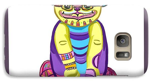 Galaxy Case featuring the digital art Cat by Bogdan Floridana Oana
