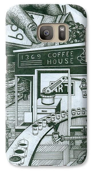 Galaxy Case featuring the painting 1369 Coffee House by Richie Montgomery