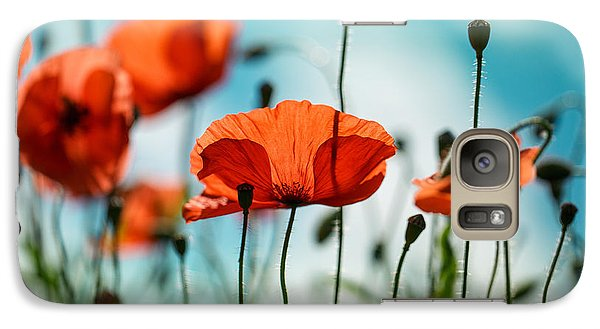 Flowers Galaxy S7 Case - Poppy Meadow by Nailia Schwarz