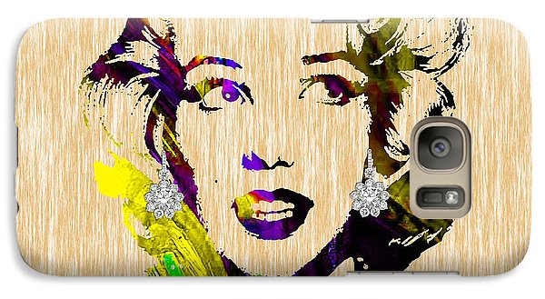 Marilyn Monroe Diamond Earring Collection Galaxy S7 Case