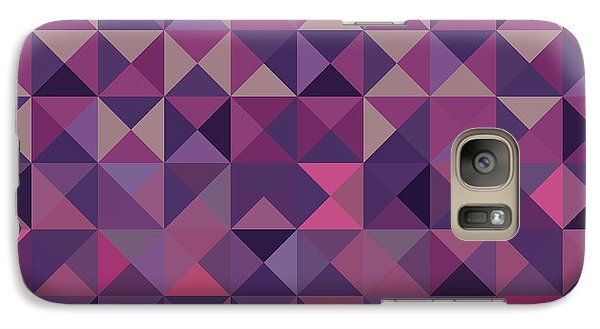 Galaxy Case featuring the digital art Retro Pixel Art by Mike Taylor