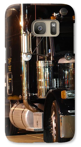 Galaxy Case featuring the photograph 18 Wheeler by Ramona Whiteaker