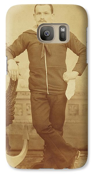 Galaxy Case featuring the photograph 1880s Italian Sailor by Paul Ashby Antique Image
