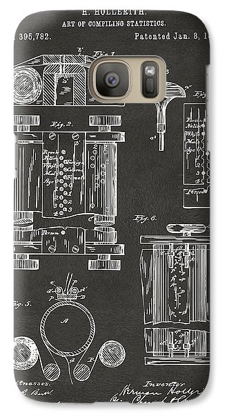 1889 First Computer Patent Gray Galaxy Case by Nikki Marie Smith