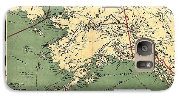 Galaxy Case featuring the photograph 1897 Map Of Alaska by Charles Beeler