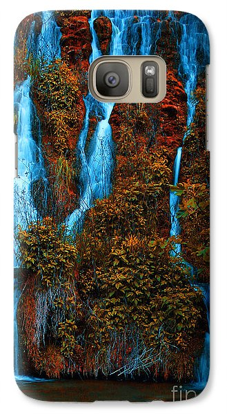 Galaxy Case featuring the photograph Waterfall by Odon Czintos