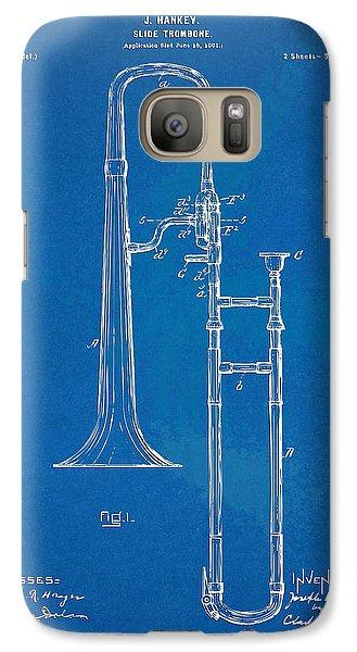 Trombone Galaxy S7 Case - 1902 Slide Trombone Patent Blueprint by Nikki Marie Smith