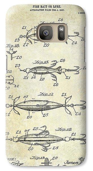 1907 Fishing Lure Patent Galaxy S7 Case