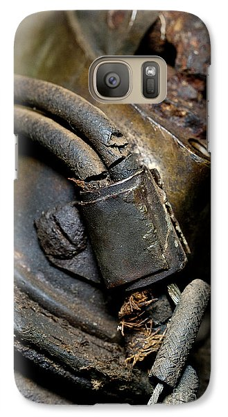 Galaxy Case featuring the photograph 1913 Michaelson Ohv Twin Motorcycle Engine by Wilma  Birdwell