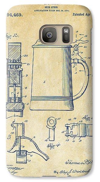 1914 Beer Stein Patent Artwork - Vintage Galaxy Case by Nikki Marie Smith