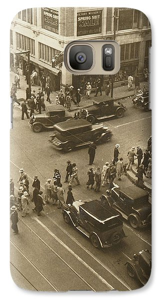 Galaxy Case featuring the photograph 1920s Dallas Downtown by Paul Ashby Antique Image