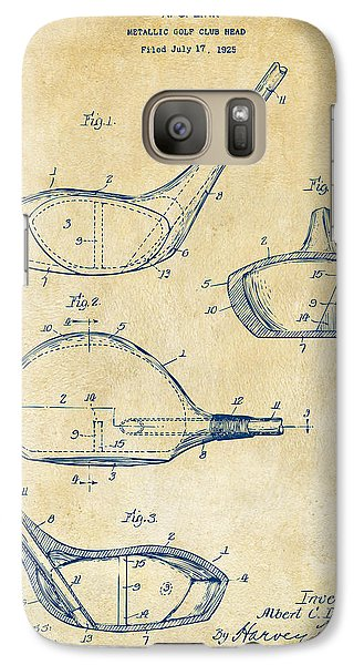 1926 Golf Club Patent Artwork - Vintage Galaxy S7 Case by Nikki Marie Smith