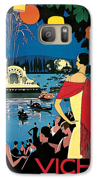 Galaxy Case featuring the mixed media 1926 Vichy Comte Des Fetes - Vintage Travel Art by Presented By American Classic Art