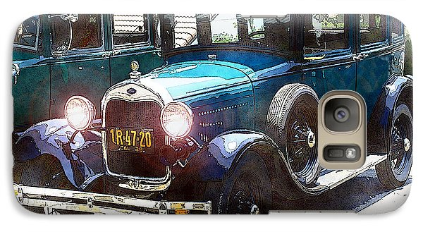 Galaxy Case featuring the photograph 1927 Ford Lights On by William Havle