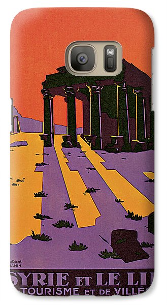 Galaxy Case featuring the mixed media 1927 La Syrie Et Le Liban - Vintage Travel Art by Presented By American Classic Art