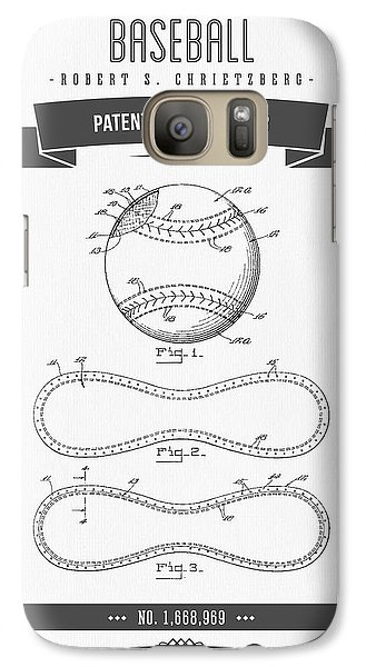 Softball Galaxy S7 Case - 1928 Baseball Patent Drawing by Aged Pixel