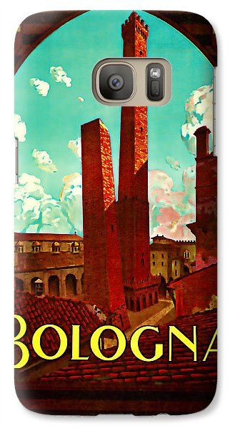 Galaxy Case featuring the mixed media 1928 Bologna -  Vintage Travel Art by Presented By American Classic Art