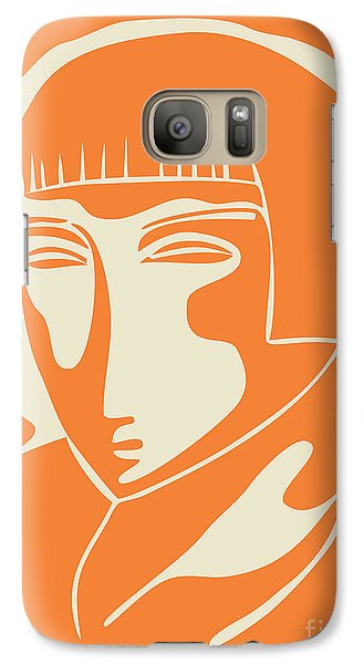1928 Woman Face   Orange Galaxy Case by Igor Kislev