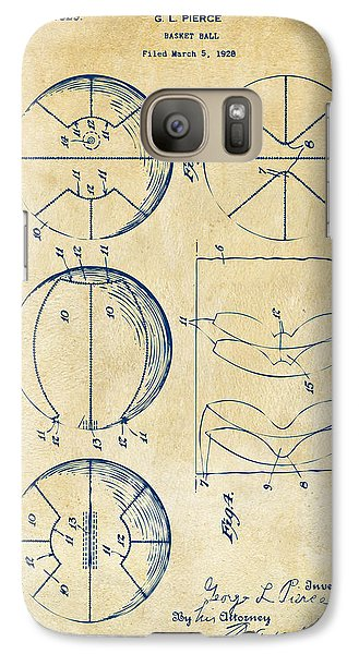 1929 Basketball Patent Artwork - Vintage Galaxy S7 Case by Nikki Marie Smith