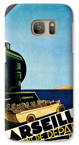 Galaxy Case featuring the mixed media 1929 Marseille Point De Depart Cote D Azur - Vintage Travel Art by Presented By American Classic Art