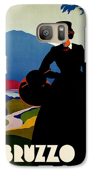 Galaxy Case featuring the mixed media 1930 Abruzzo Vintage Travel Art by Presented By American Classic Art