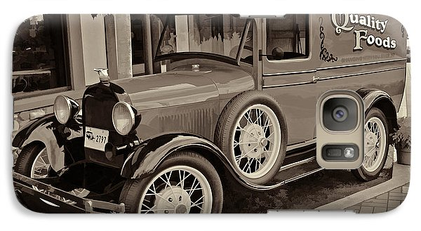 Galaxy Case featuring the digital art 1930 Ford Panel Truck by Richard Farrington