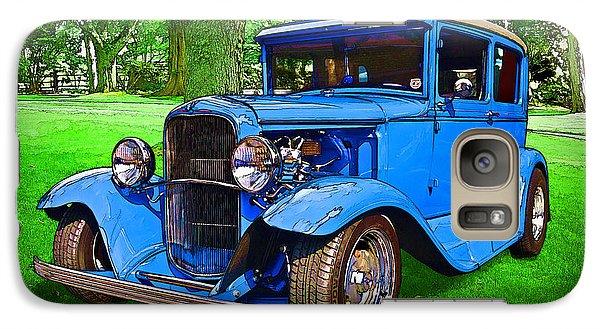 Galaxy Case featuring the digital art 1930 Ford by Richard Farrington