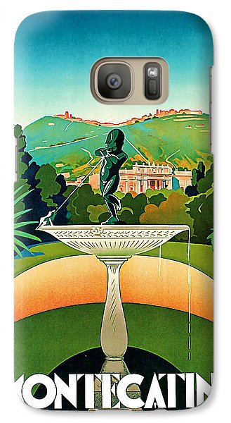 Galaxy Case featuring the mixed media 1930 Montecatini Italy Vintage Travel Art by Presented By American Classic Art