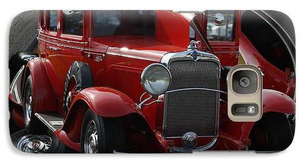 Galaxy Case featuring the pyrography 1932 Chevrolet by B Wayne Mullins